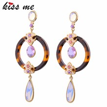 ed00897a Women Gold Plated Chic Leopard Resin 2018 Ladies Earrings Designs
