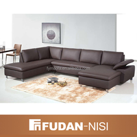 latest design modern corner sofa sex furniture brown leather sofa