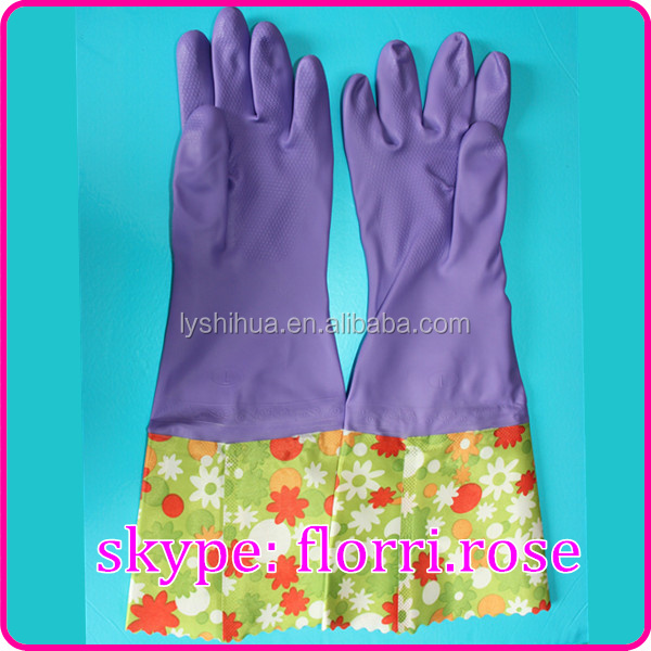 safety work long sleeve rubber glove winter