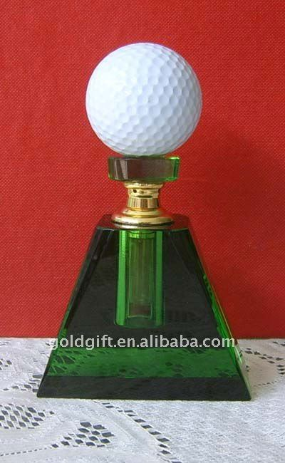 crystal golf perfume bottle