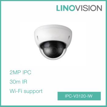 2MP Full HD Water-proof 30m IR Mini Dome Wifi IP Camera