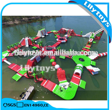 Lily Toys inflatable water park floating playground, used inflatable floating island