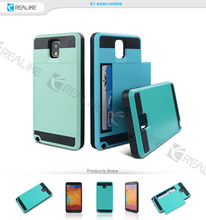 Shockproof back cover tpu pc slim note 3 cover case for samsung galaxy