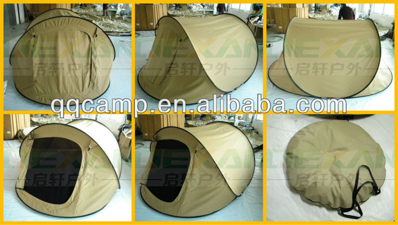 2-3man Instant pop up Cotton Canvas tent top quality