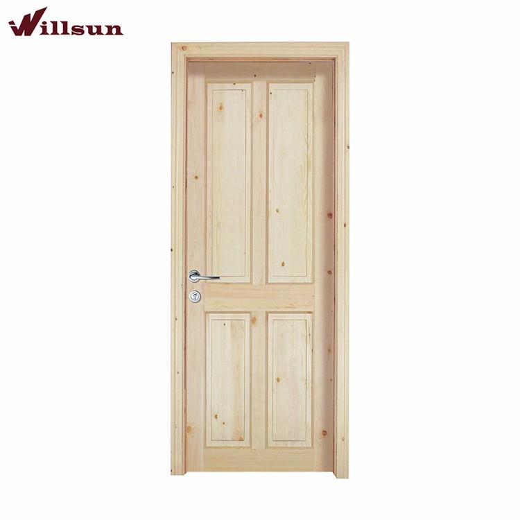 Durable unfinished solid wood interior door china door for Solid wood interior doors