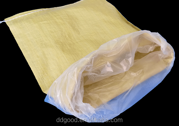 Clear plastic bag liner 25kg 50kg for Sand,cement,grain,fertilizer,food