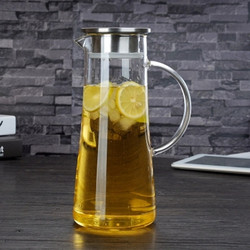heat resistant high borosilicate clear glass water kettle with handle