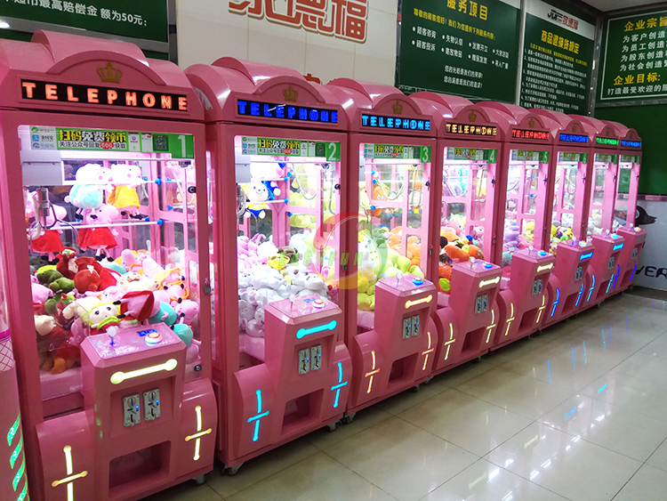 2018 new British style telephone claw crane vending machines for sale