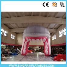 Custom shark inflatable gate arch,inflatable door arch