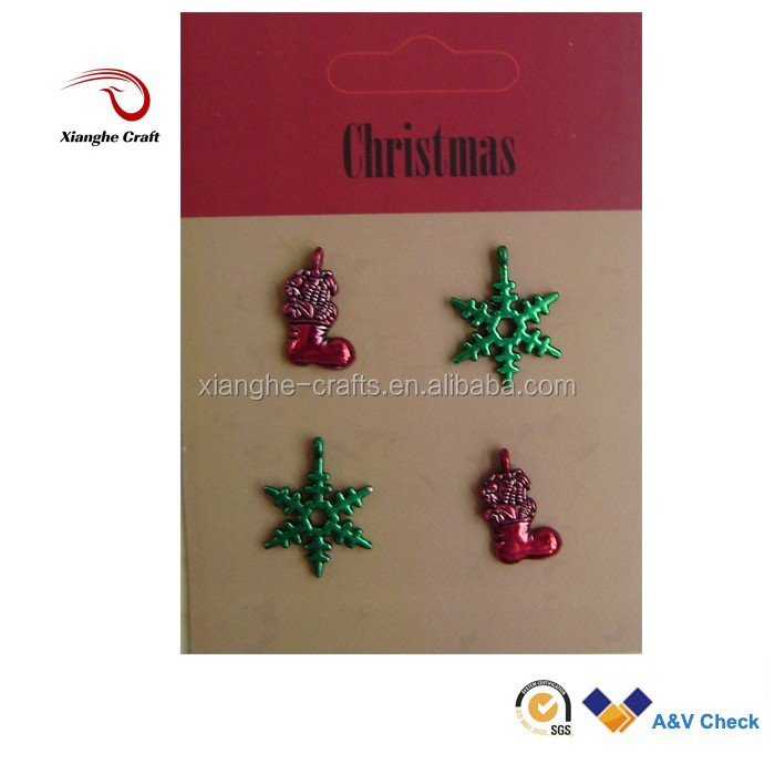 wholesale engravable stocking snowflake shaped charms