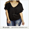 oversize blank tops for fat women/big size black tops,loosely tops