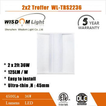36w Recessed Led Troffer light with UL DLC4.0 listed