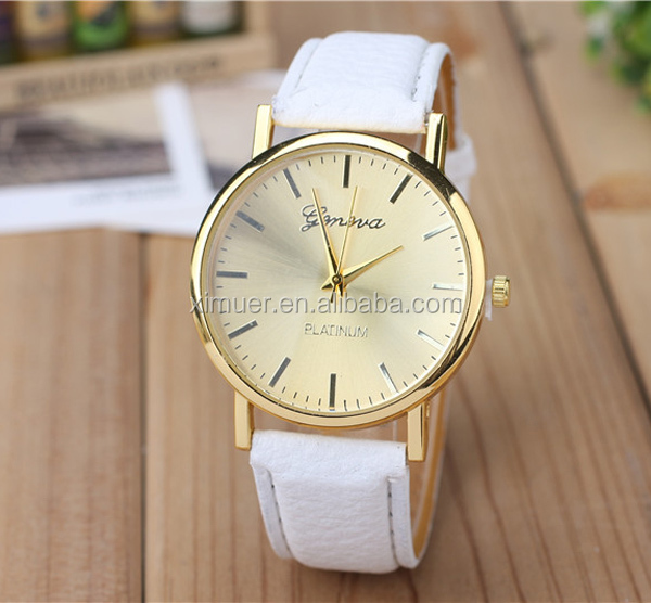 Promotional ali express watch cheap leather watch wrist watch