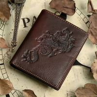 8012-2C China Manufacture Cowhide Genuine Leather Wallet Money Case For Men