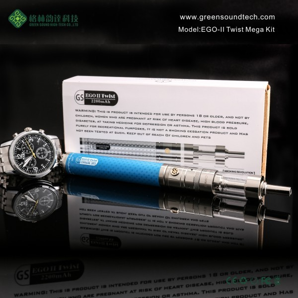 electronic cigarette free sample free shipping EGoII Twist 2200mah Variable Voltage electric cigarette ego vaporizer