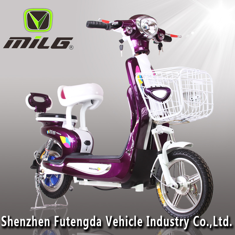 Light Simple Design 2016 New Model Cheap MilG China 350w electric motorcycle for adult /2 Wheel electric scooter /ebike