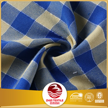 yarn dyed check organic cotton fabric