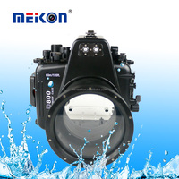 Meikon Waterproof camera case for diving equipment 60m/195ft diving camera waterproof case underwater housing for Nikon D800