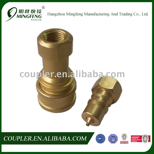 "Professional high quality 1/4"" Female Brass Hydraulic quick coupling"
