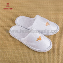 JET-SL-097 Spa hotel shoes closed terry towel slippers
