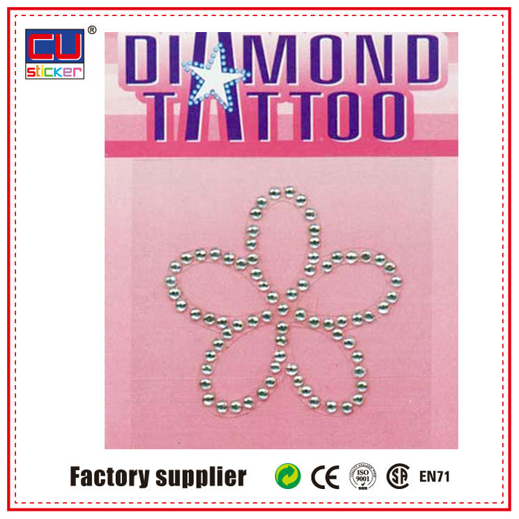 Sexy double cherries Adult crystal body Jewel Tattoo Sticker wholesale