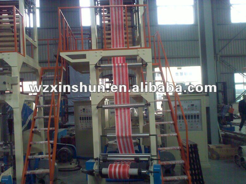 New HDPE anad LDPE Two Colors Film Blowing Machine