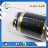 China best price IEC UL CB 26/35kv YJV22 3x400mm copper cable
