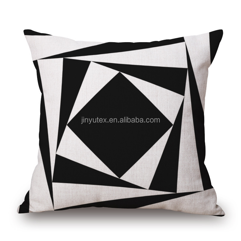 New creative soft simple style latest design digital printed cushion pillow cover