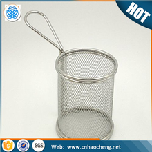 Eco-friendly stainless steel hanging fruit basket/chef french fries basket