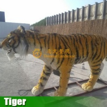 Animal zoo life size vivid robotic tiger and king kong model