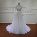 New arrival beading wedding dress with detachable skirt