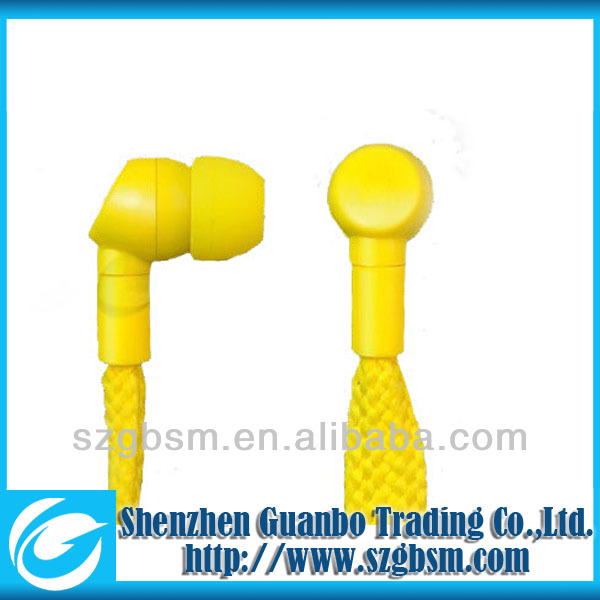fashion shoe lace earphones shenzhen made