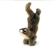 Mini size plush artificial customized real fur squirrel toys