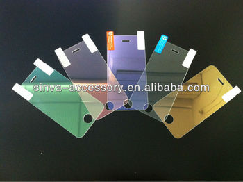 Colorful Tempered glass screen protector with factory price/beautiful packages