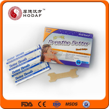 Chinese New Nasal Strips To Make Breathe Right