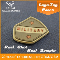 Custom 3D embossed rubber logo for bag company