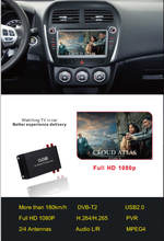 Car mobile digital dvb-t2 TV receiver box with MPEG4