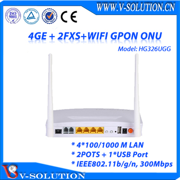 4GE + 2FXS + USB + WiFi GPON ONU Support TR069 CLI WEB Manage