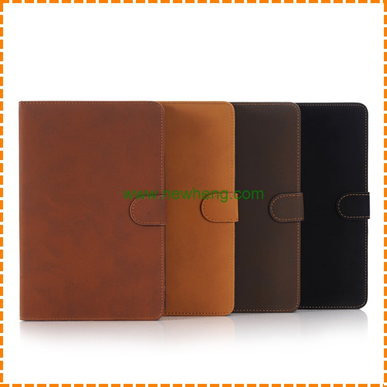 New design Retro Matte Pattern PU Leather Wallet Stand Case for iPad Pro 12.9""