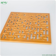 Wall decoration screen lead free pvc wpc carving board