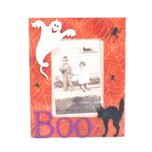 "4x6"" Ghost boo black cat funny halloween picture photo frame"