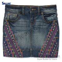 SALCAR jeans short skirt sexy women in short jeans skirt new design women jean skirt