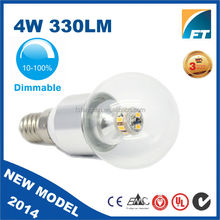 Cheapest price 360 degree led bulb, 4w 5w 300LM Globe bulb with dimmable driver