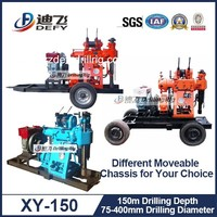 Widely Used Borehole Drilling Machine 150m Water Bore Well Drilling Rig Underground Water Drilling Machine XY-150