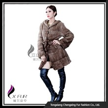CX-G-A-46A Winter Women Knitted Mink Fur Coat
