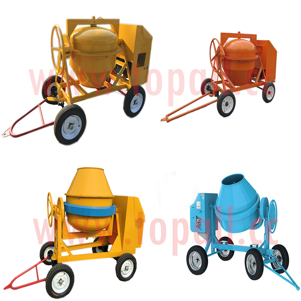 2017 Topall New 7/5 Cft.portable Diesel Cement Concrete Mixer - 6 HP
