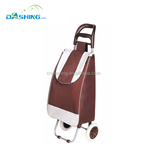 Foldable luggage cart hot sale folding grocery shopping cart