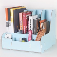 Office Supply file holder popular wooden DIY book file document holder organizer for office
