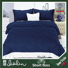China home textile high quality printing short floss velvet fabric king size bed cover set in dubai