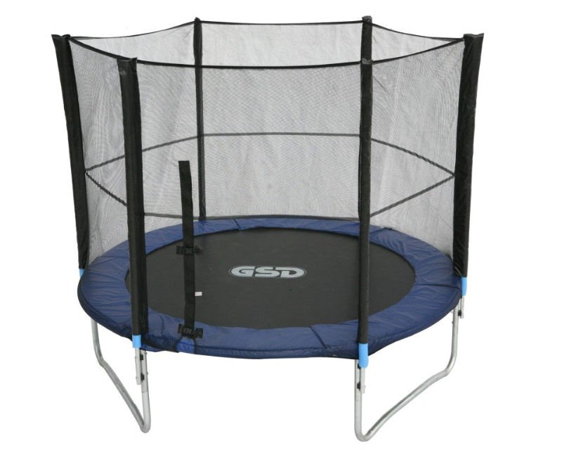 GSD 10FT trampoline with enclosure (3 legs)